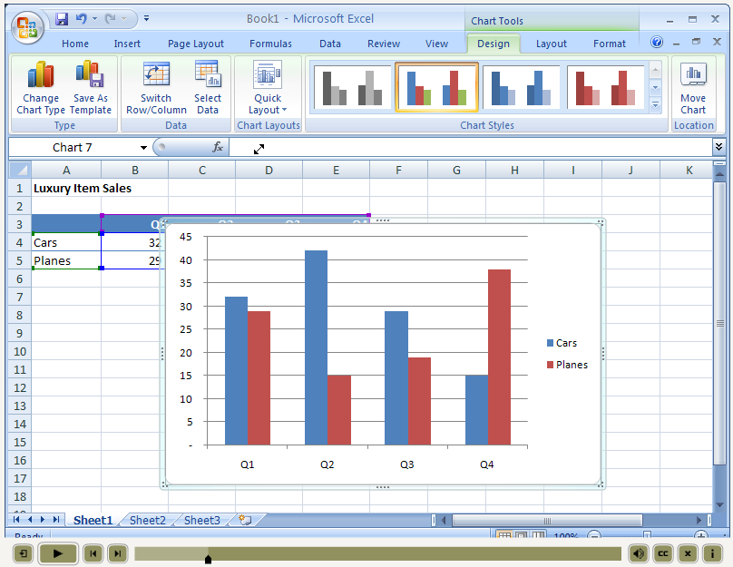 how to make an ogive in microsoft excel